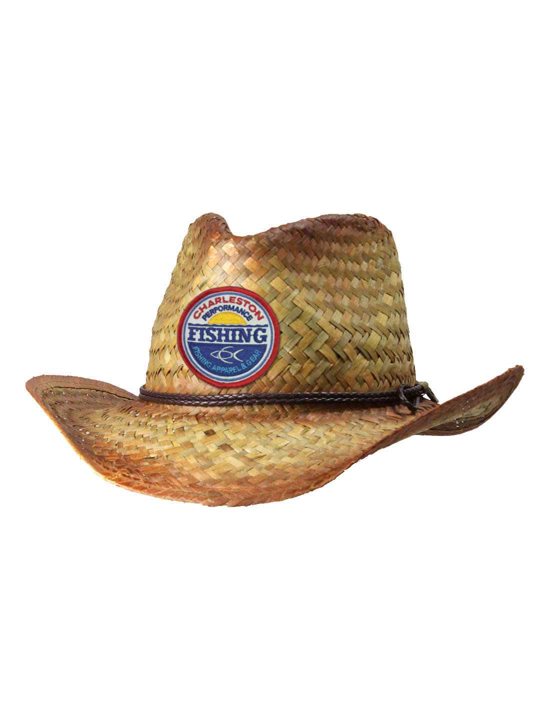 1cbaf06126cc2 CPF Sunset Tea-Stained Straw Cowboy Fishing Hat - CPF Gear