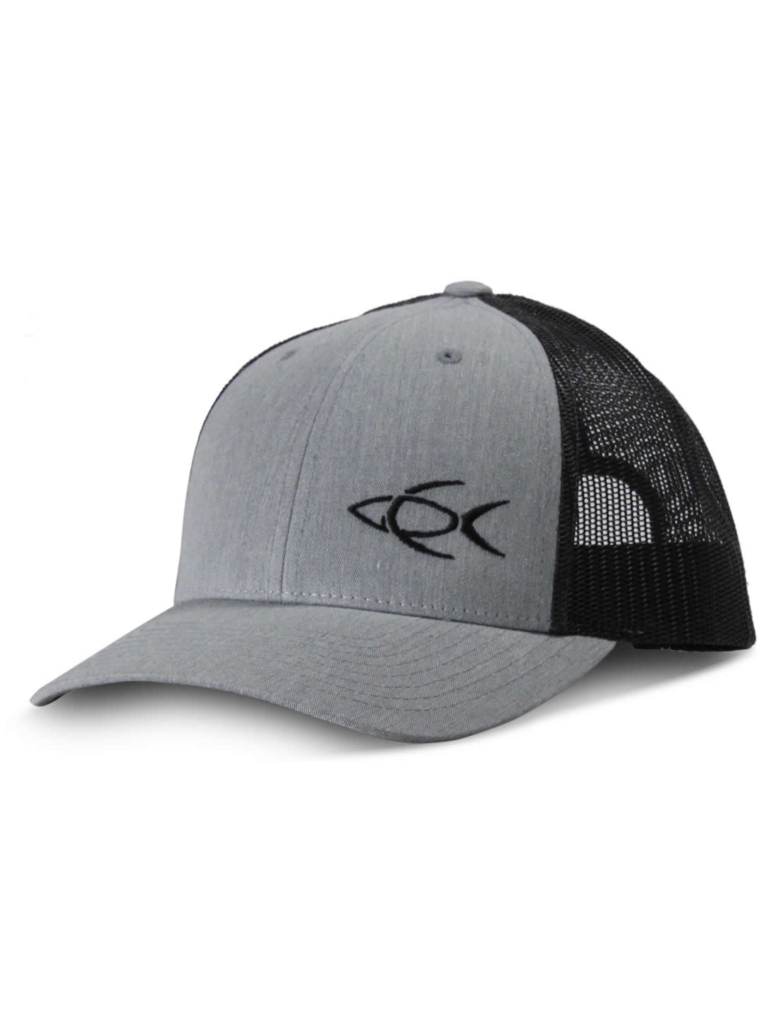320d135f769 CPF Embroidered Fish Charcoal and Black Mesh Back Fishing Hat - CPF Gear