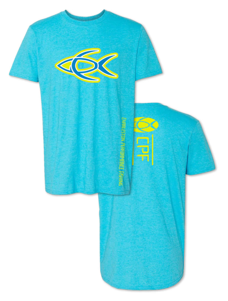 CPF Bright Fish Graphic Aqua Blue Fishing T-Shirt