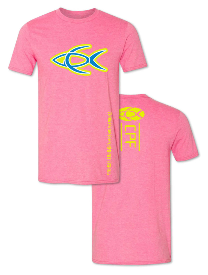 CPF Bright Fish Graphic Pink Fishing T-Shirt