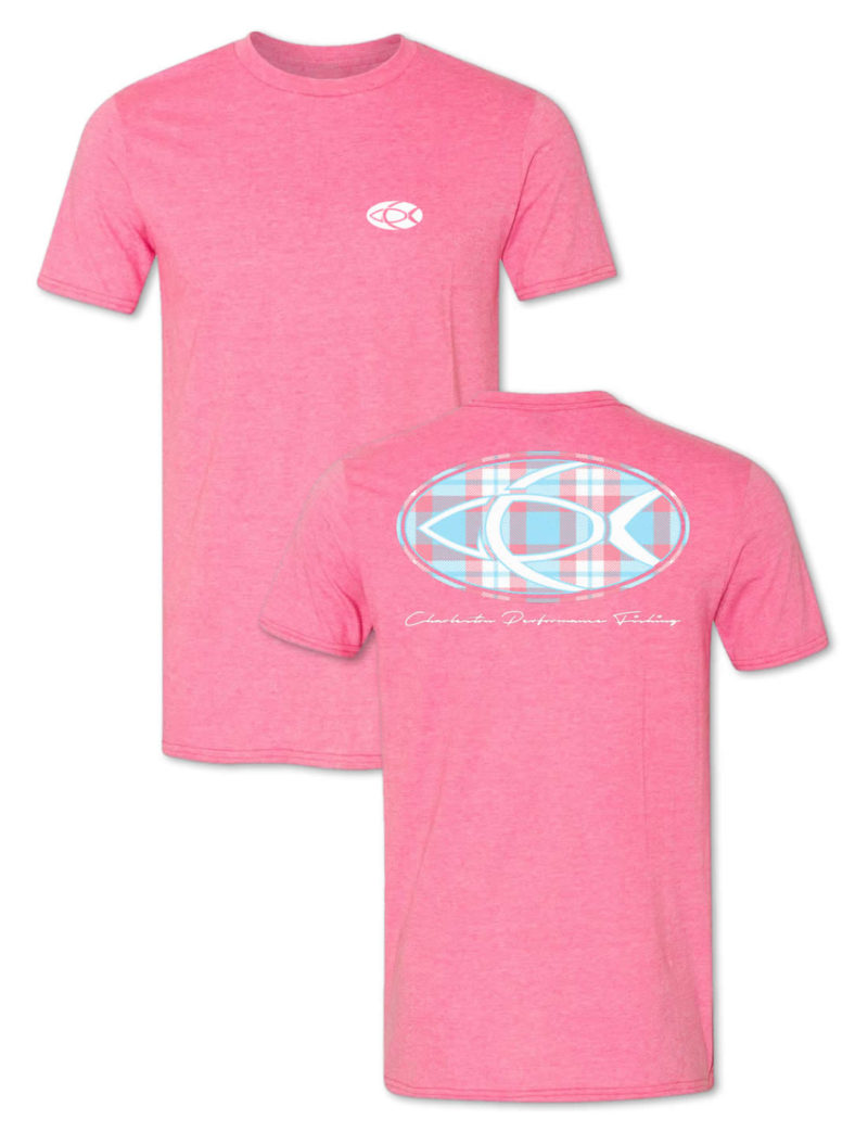 CPF Plaid Signature Fishing T-Shirt - Heather Pink