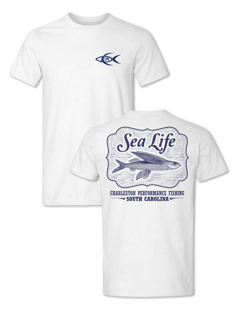 CPF Sea Life Fishing T-Shirt - White