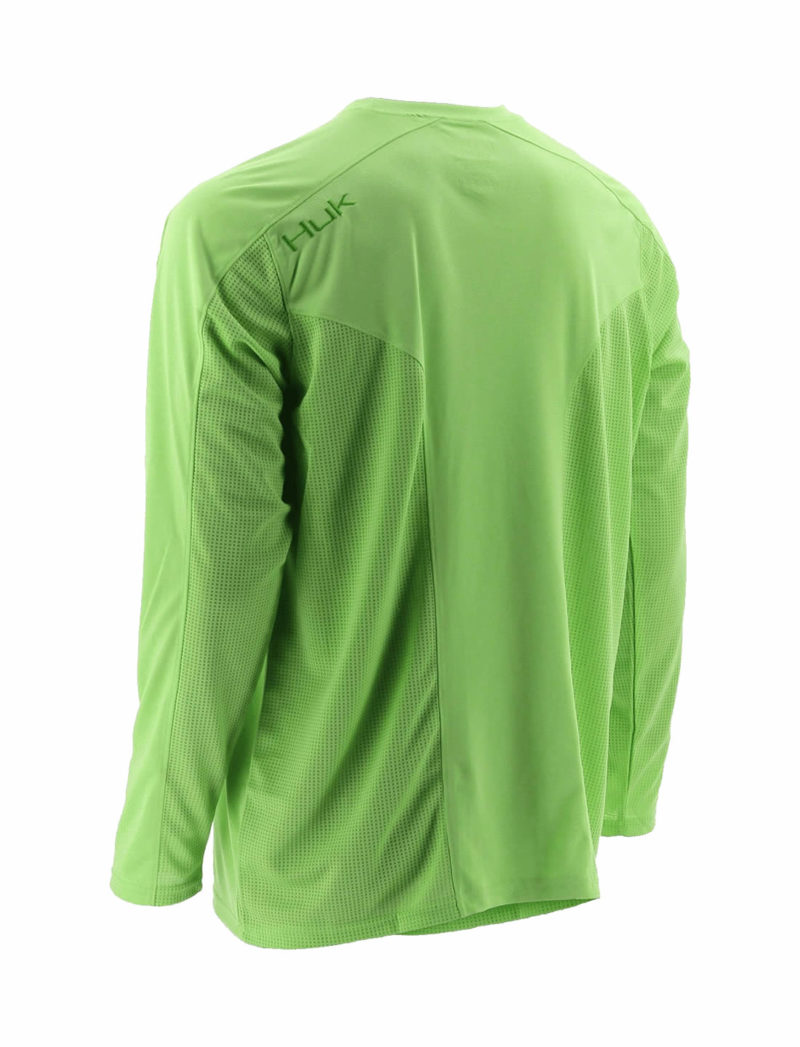 Huk Ice Fishing Shirt - Neon Green