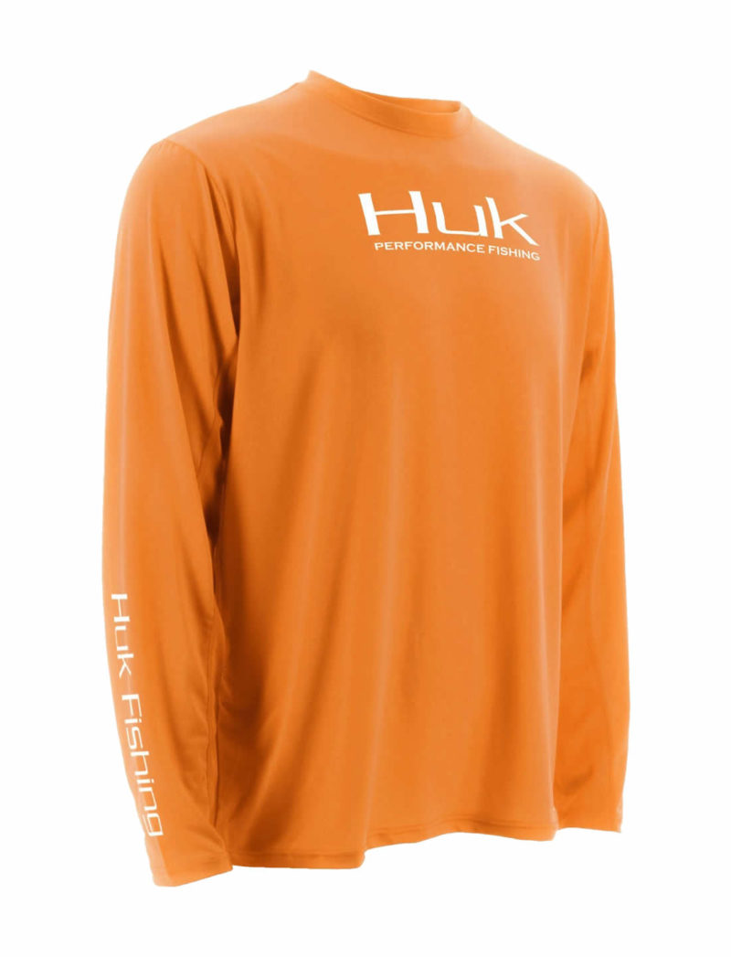 Huk ICON Long Sleeve Fishing Shirt - Orange