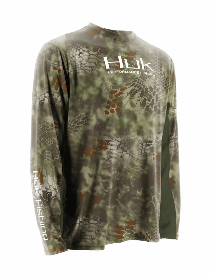 Huk Kryptek ICON Long Sleeve Fishing Shirt - Mandrake