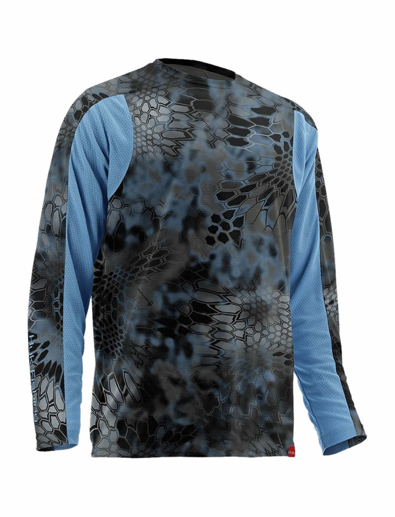 Huk Kryptek Trophy Long Sleeve Fishing Shirt - Neptune