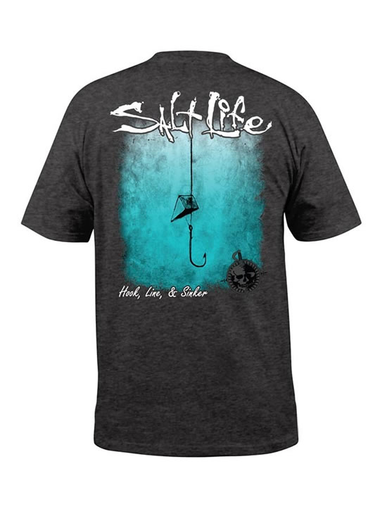 7d364c05 Salt Life Hook Line and Sinker Fade Fishing T-Shirt - CPF Gear